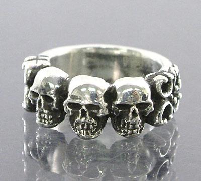 Small 4 Skull Ring