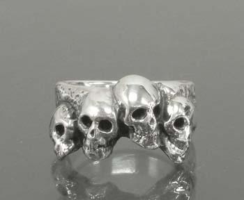 Large 4 Skull Ring
