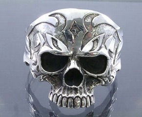 Large Traival skull Bangle