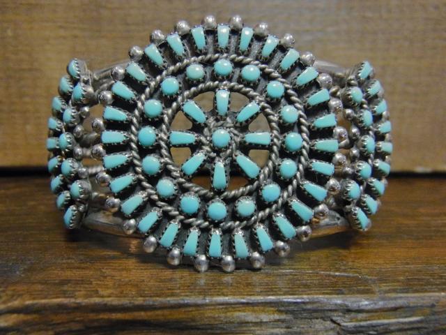 SOLD!! Zuni Turquoise Needlepoint BRACELET