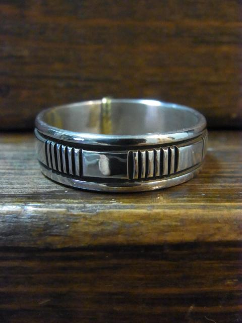 28号BRUCE MORGAN STAMPWORK7�o幅 RING