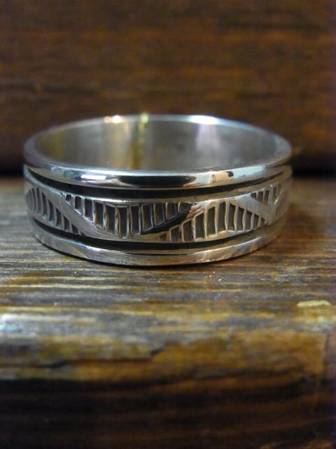SOLD!! 24号BRUCE MORGAN STAMPWORK7�o幅 RING