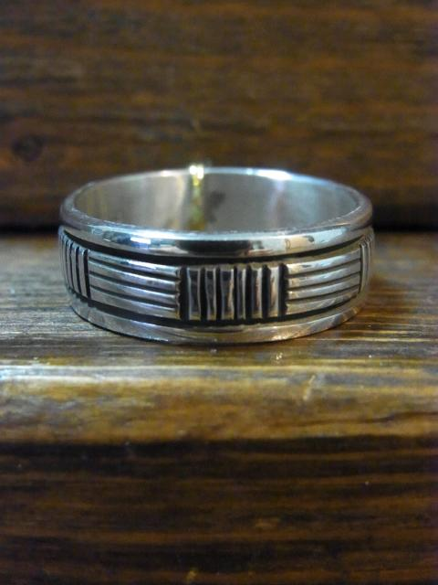 21号BRUCE MORGAN STAMPWORK7�o幅 RING