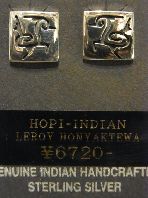 SOLD!! ロードランナーピアス LEROY HONYAKTEWA