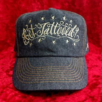 LFL-CAP41 Get Tattooed BLACK DENIM CAP