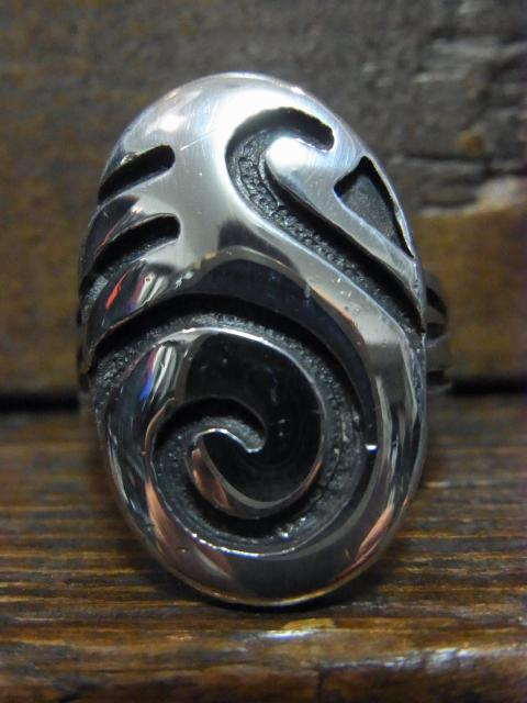 SOLD!! HARRY SAKYESVA VINTAGE-HOPI 水鳥 RING