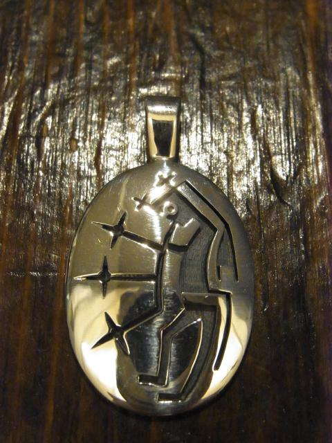 SOLD!! RICKY COOCHWHYTEWA  Starblower pendant-BC-18