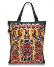 TOTE BAG/DEMON LIQUOR LIQUOR BRAND
