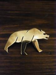 SOLD!! LAWRENCE SAUFKIE 熊ピン真鍮