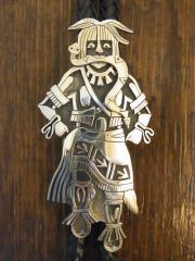 SOLD!! スネークダンサーbolo tie LAWRENCE SAUFKIE Sr VINTAGE-HOPI 1947〜2011